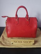 100% Authentic Louis Vuitton speedy 25 RED EPI Leather Hand Bag