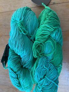 *SALE*Araucanian Ulmo Solid 100% Cotton RRP £8.90 185m x100g Green Shading PT684