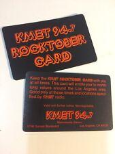 KMET 94.7 ~ Rocktober card from the legendary LA FM Radio Rock station.