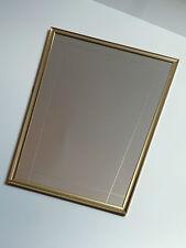 Anni 60er SPECCHIO a Parete Specchio Ottone TRAPEZIO 60s wall mirror