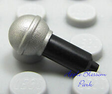 NEW Lego Band Minifig Music Utensil MICROPHONE Black w/Silver-Pearl Gray Top