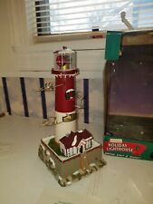 Vtg Mr. Christmas Holiday Lighthouse Barnegat New Jersey - Mib