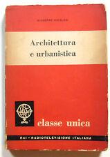 Giuseppe Nicolosi Architettura e urbanistica Edizioni Radio Italiana 1953