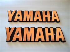 YAMAHA Fuel Gas Tank Emblem Badges Petrol Gold XS650 XS 650 Special *UK STOCK*