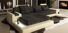 LForm Wohnlandschaft Couch Big XXL Textil Sofa Leder Polster Ecke Garnitur Stoff