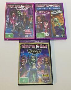 Monster High DVD X 3 Region 4 PAL