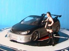 PEUGEOT 206 CC PAROTECH TUNING + PIN UP NOREV 1/43 CAR