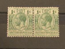 British Honduras GV  1Cent O/Print Pair. Unmounted mint (MNH). Superb