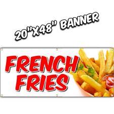 FRENCH FRIES BANNER  deep fried chili dog tenders chicken nachos lemonade 20x48