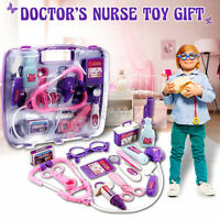 Kids Pretended Nurse Doctor's Nurse Medical Play Carry Case Kit Roll Toy Set US