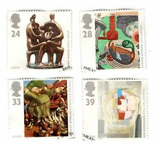 GB Stamps SG1767-1770 1993 Europa. Contemporary Art. Multicoloured FDI