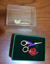 Just Nan Stork Scissors Lapel Pin/Red Hat Society/NIB
