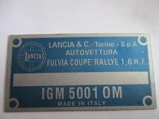 Lancia Delta HF Integrale Abzeichen Schriftzug Schild limited edition