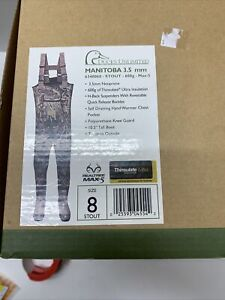 DUCKS UNLIMITED Realtree Max 5 CHEST WADERS W/BOOTS  600g THINSULATE ULTRA Sz 8