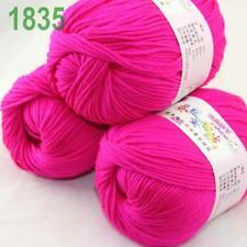 Sale lot 3 Skeins x50g Cashmere Silk Wool Children Hand Knitting Crochet Yarn 35
