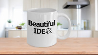 Anarchy Beautiful Idea Mug White Coffee Cup Funny Gift for Anarchist Communist