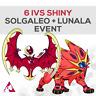 Pokémon Sword & Shield - SOLGALEO + LUNALA, 6 IVS SHINY EVENT