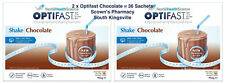 2 x Optifast VLCD Chocolate Weight Loss Shake 18 x 53g = 36 Sachets High Protein