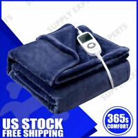 """50""""x 60"""" VIPEX Electric Heated Throw Blanket with 10 Heat Settings Auto Shut Off"""