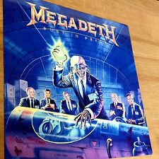 More details for megadeth - rust in peace - 12x12 inch metal sign