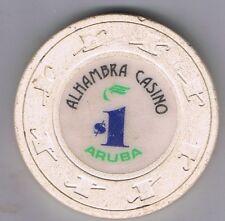 Almambra Casino $1.00 Casino Chip Aruba