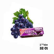Juicy Jay's 1 Pack Grape Flavored 1 1/4 Size Rolling Papers 32ct, Raw, Elements
