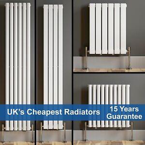 Designer Radiator Vertical Horizontal White Flat Panel Oval Column Double Rads