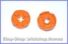 Lego 2 x Platte rund orange - 4032 - Plate Round 2 x 2 Axle Hole - NEU / NEW