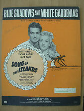 VINTAGE SHEET MUSIC - BLUE SHADOWS AND WHITE GARDENIAS - BETTY GRABLE