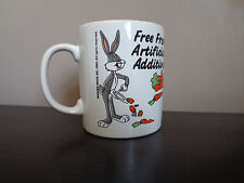 """Warner Bros. 1988 Free From Artificial Additives bugs bunny mug Cup 3.5"""" Tall"""