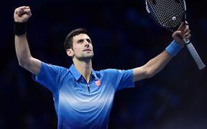 NEW Novak Djokovic Poster Length 800 mm Height: 530 mm SKU: 8203