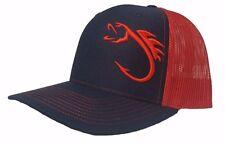 new product 62e75 7b3c0 Richardson Fishing Hook Snapback Hat, Trucker Cap for Men and Women