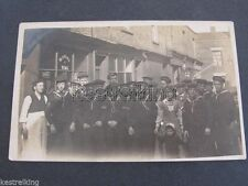 Pre WW1 Postcard Group of Navy Sailors in Uniform postally used 1911