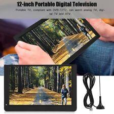 "LEADSTAR 12"" Mini Portable HD TFT-LED TV Player Digital Analog Color Television"