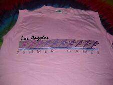 Summer Olympics 1984 Los Angeles Games Track Field Vtg.Pink T-Shirt Womens-M-Nr