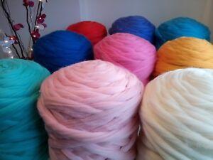 62 Colours* 100% Merino Giant Wool Extreme Arm Knitting Big Yarn 1 - 4 kg