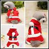 Pet Christmas Costume Dog Suit with Cap Santa Claus Coat Hoodies Apparel Winter
