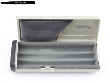 Older empty Rotring Plastic Case / Box for up to three Pens in Silver