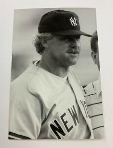 Catfish Hunter (1989) New York Yankees Vintage Baseball Postcard NYY