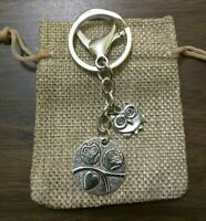 OWL LOVERS KEY CHAIN KEY RING KEYCHAIN KEYRING CLIP PURSE BACKPACK FOB Made USA