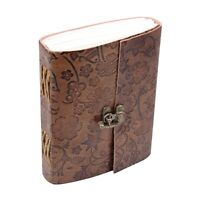 Unique Handmade Journal Gifts-Personalized Brown Leather Bound Notebook