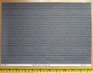 O gauge (1:48) scale) grey roof tile paper - A4 sheet