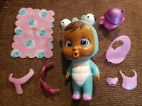 Cry Babies Magic Tears Fantasy Mini Dolls Lila Bug Winged House EUC