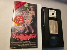 The Mutilator Fall Break un-rated Vestron VHS cut box ex rental  horror vintage