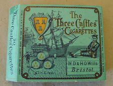 Original Antique The Three Castles English Cardboard Cigarette Wrapper Package