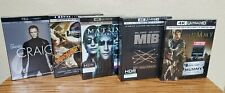 New Listinglot of 5 4K Ultra Hd + Blu-Ray + Digital boxsets (007, Jp, Matrix, Mib, Mummy)