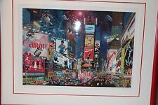 Alexander Chen Times Square Parade SIGNED Framed Print Limited Edition #694/695