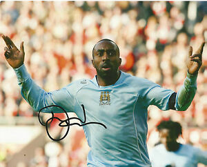 Genuine Hand Signed Autograph Photograph MANCHESTER CITY Darius Vassel 10 x 8""