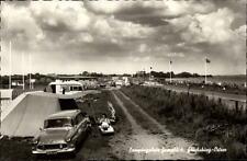 GLÜCKSBURG Ostsee ~1950/60 altes Auto Zelt auf dem Campingplatz Grenzblick AK