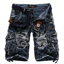 NWT Men's Army Military Style Camouflage Camo Capri Cargo Short Pants Trousers